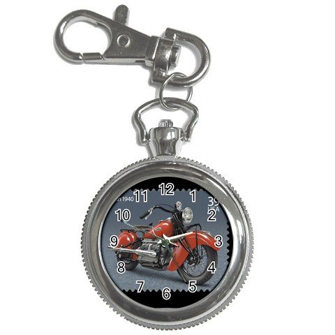 Indian Motorcycle 1940 Watch Pocket Clock Face Key Chain 14431923