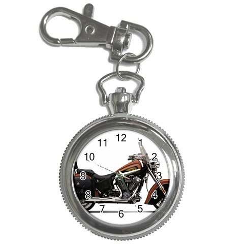 Indian Chief Roadmaster Motorcycle Watch Pocket Clock Face Key Chain 14431941