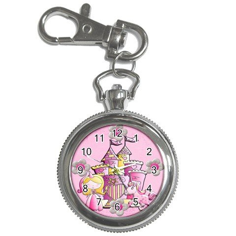 PINK PRINCESS Pocket Watch Clock Face Key Chain 20628900