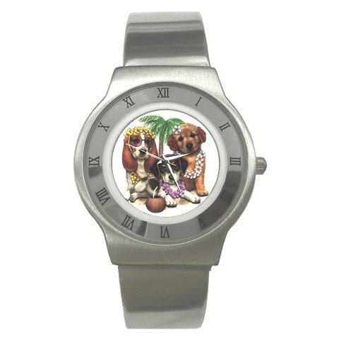DOG Tropical Cartoon Men's Stainless Steel Watch 14430613