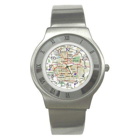 DENVER MAP Men's Stainless Steel Watch 14597649