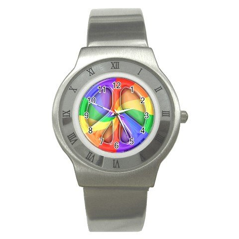 RETRO PEACE SIGN Men's Stainless Steel Watch 17112942