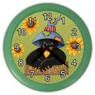 AUTUMN FALL CARTOON CROW Wall Clock, Home Decor, Office Gift Time 22646501