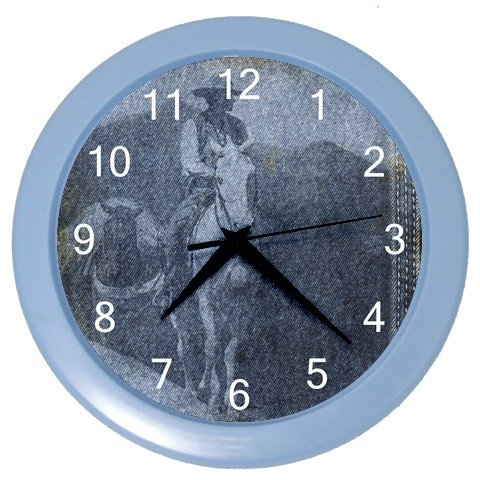 WESTERN COWBOY Design Wall Clock, Home Decor, Office Gift Time 24185959