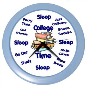 COLLEGE TIME Wall Clock, Home Decor, Office Gift Time 24858436