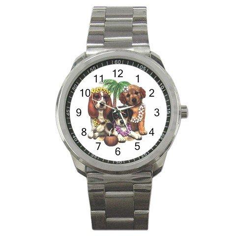 Hawaiian Dogs Men's Sports Metal Stainless Steel Watch 14430612