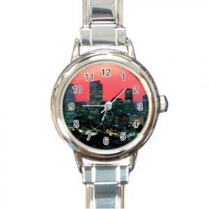 DENVER COLORADO SKYLINE Italian Charm Wrist Watch Round Womens Jewelry 14597651