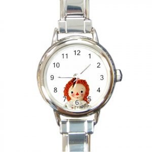 RAGGEDY ANN DOLL Wrist Watch Italian Charm Round Womens Jewelry 14666809