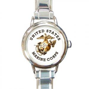 USMC MARINES MILITARY Watch Italian Charm Round Womens Jewelry 17393296