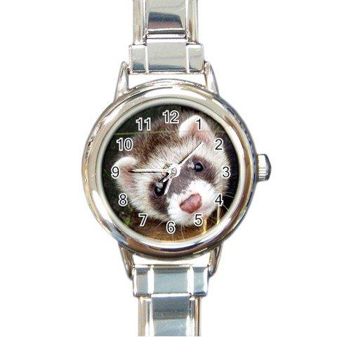 FERRET Watch Italian Charm Round Womens Jewelry 17473590