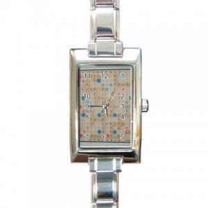 SCRABBLE GAME BOARD Italian Charm Wrist Watch Rectangular Jewelry 17519241