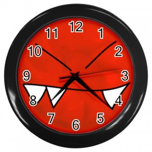Funny Angry Face Black Plastic Frame Wall Clock Home Decor Office Gift Time 26618925