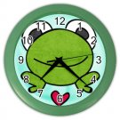 COLORFUL FROG Wall Clock, Home Decor, Bar Clock, Kitchen Clock, Gift Time 26619076