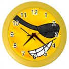 PIRATE SMILEY FACE Print Wall Clock, Home Decor Gift Time 26619151