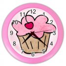 PINK CUPCAKES Design Wall Clock, Home Decor, Office Gift Time 26618968