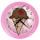 PINK ICE CREAM CONE Design Wall Clock, Home Decor, Office Gift Time 26619096