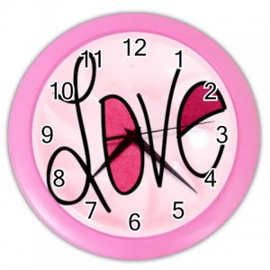 PINK LOVE Design Wall Clock, Home Decor, Office Gift Time 26619123