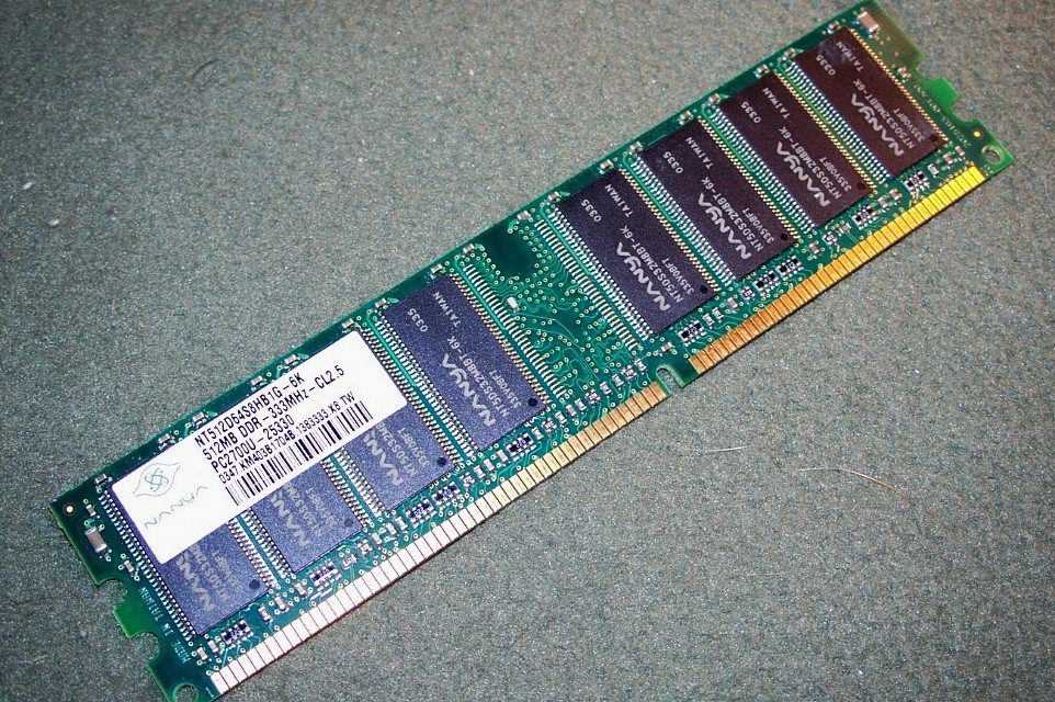 NT512D64S8HB1G-6K Nanya 512MB DDR 333 PC2700 CL2.5 Memory Stick