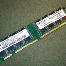 Micron 128MB PC2100 DDR-266MHz non-ECC Unbuffered CL2.5 184-Pin DIMM Memory Module MT8VDDT1664AG
