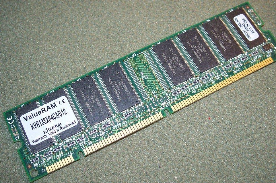 KINGSTON Memory 512MB KVR133X64C3/512 MEMORY MODULE STICK