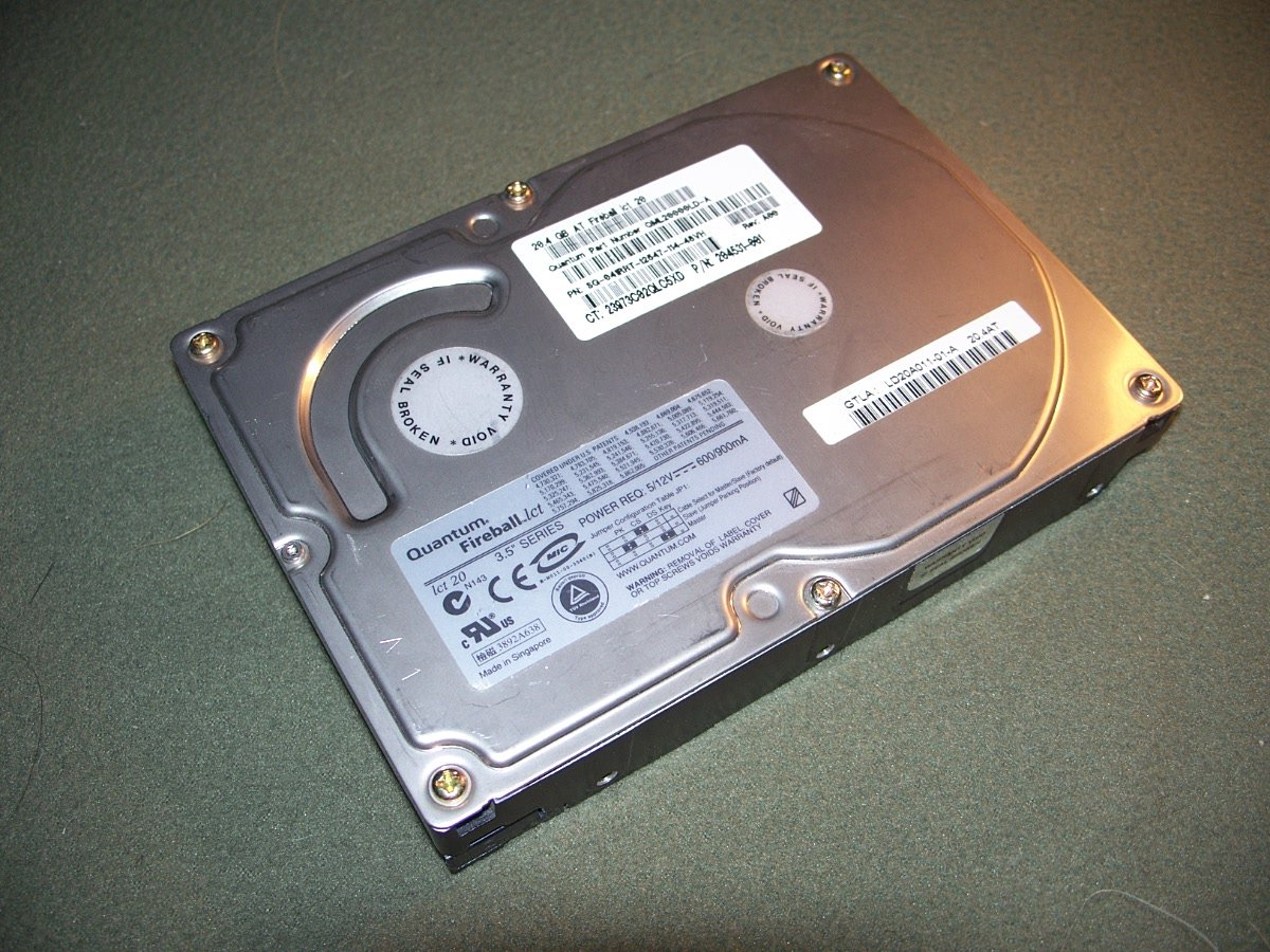 QUANTUM FIREBALL 20GB 4.5K IDE HARD DRIVE HD QML20000LD-A