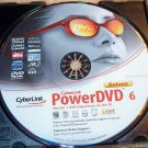 CYBERLINK POWERDVD 6 DELUXE PC W/ SERIAL SOFTWARE