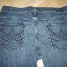7 For All Mankind Stitched A Pocket Stretch Jeans Bootcut Indigo Blue 36W/32L