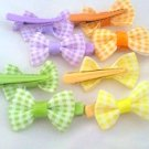 Square Dots Hair Bows