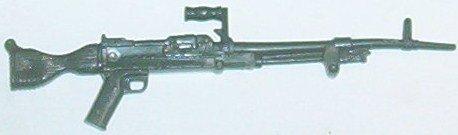Rambo, green machine gun from accessory pack