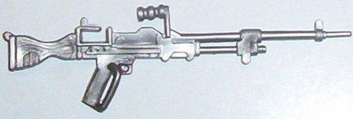 Rambo Col. Trautman silver machine gun