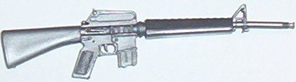 Rambo, silver M-16 from accessory pack