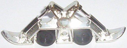 "Wheeled Warriors silver chrome skid from ""Spike Trike"""
