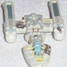 Micro Machine battle-damaged Y-wing fighter