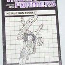 1985 Shrapnel instruction booklet