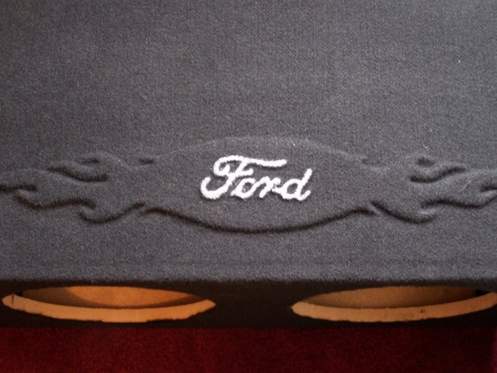 "Dual 12"" Ford 1 Speaker Box"