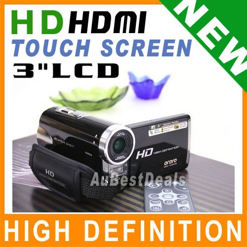 TOUCH PANEL HD DIGITAL VIDEO CAMERA WEBCAM TWO SDHC SOCKET UPTO32G DUAL POWER