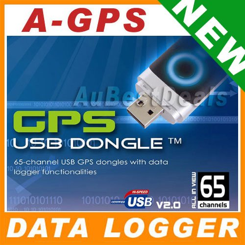 65 CHANNEL AGPS DATA LOGGER USB GPS RECEIVER DONGLE NEW