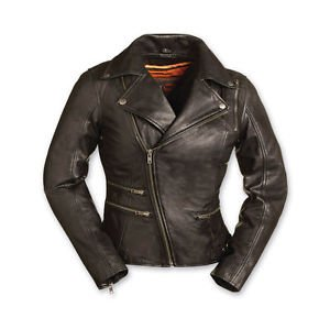 First Manufacturing Co. Women's Monte Carlo Black Leather Jacket -FIL160NOCZ