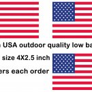 3 Pack Patriotic American flag vinyl removable low glue (not static) sign sticker
