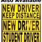 2 STUDENT DRIVER bumper stickers for new drivers