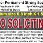 NO SOLICITING sticker sign to keep solicitors away, Permanent