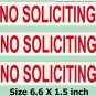 3 Removable NO SOLICITING sticker sign to keep solicitors away!