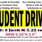 STUDENT DRIVER bumper sticker for new drivers with removable glue