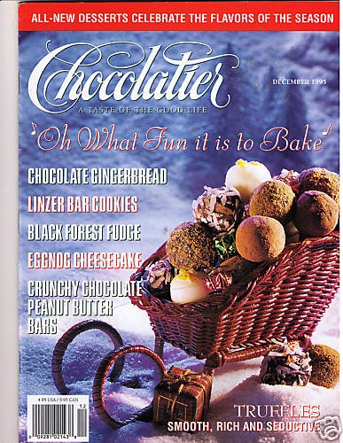 Chocolatier Magazine December 1995 Christmas Cookies