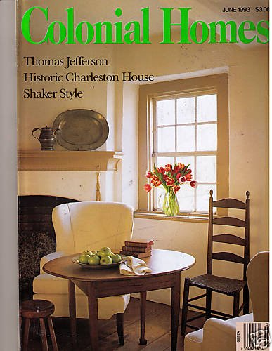 Colonial Homes June 1993 Charleston House Shaker Style