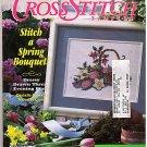 Cross Stitch Sampler Spring 1992 Evening Purse Bouquet