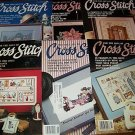 Lot of 6 For The Love Of Cross Stitch 1990 Full Year