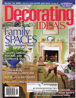 Country Sampler\'s Decorating Ideas Magazine June 2002
