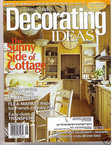 Country sampler 39 s decorating ideas magazine aug 2003 for Country home decor magazine