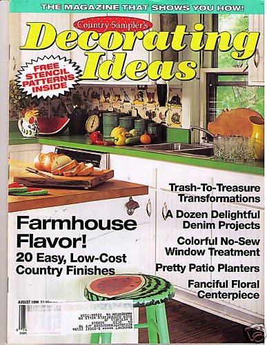 Country Sampler's Decorating Ideas Farmhouse Denim 1996
